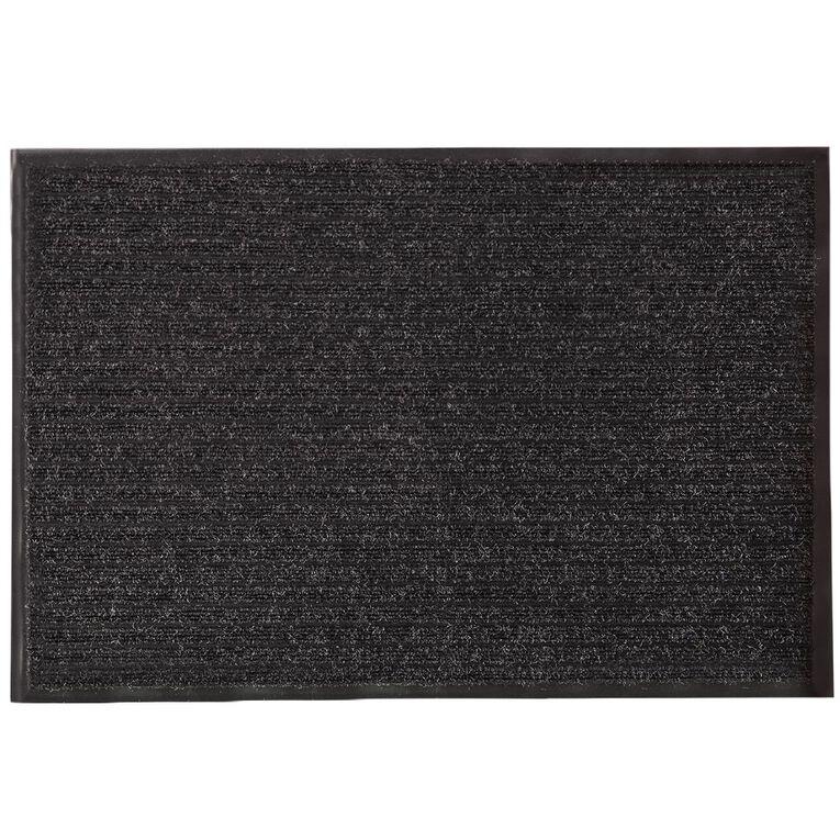 Living & Co Garage Door Mat Black 68cm x 100cm, Black, hi-res