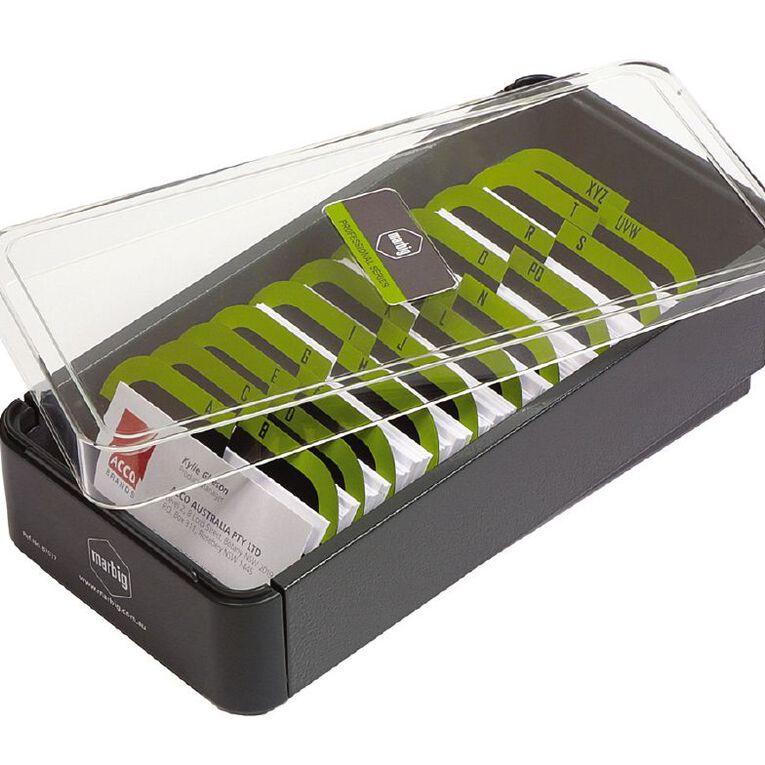 Marbig Business Card Filing Box 600 Capacity Multi-Coloured, , hi-res