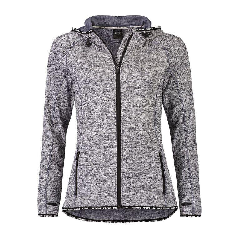 Active Intent Women's Slogan Elastic Detail Sweatshirt, Blue Dark, hi-res