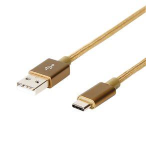 Botanic Geo USB-C Cable Gold 2m