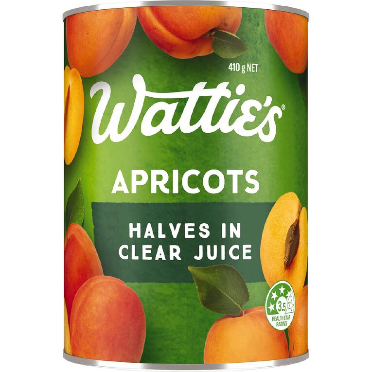Wattie's Apricot Halves in Clear Juice 410g, , hi-res