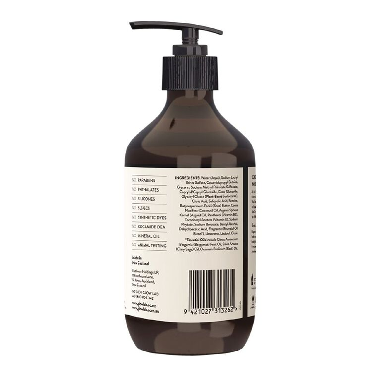 Glow Lab Hand Wash Antibacterial Pump Lemongrass & Lime 300ml, , hi-res
