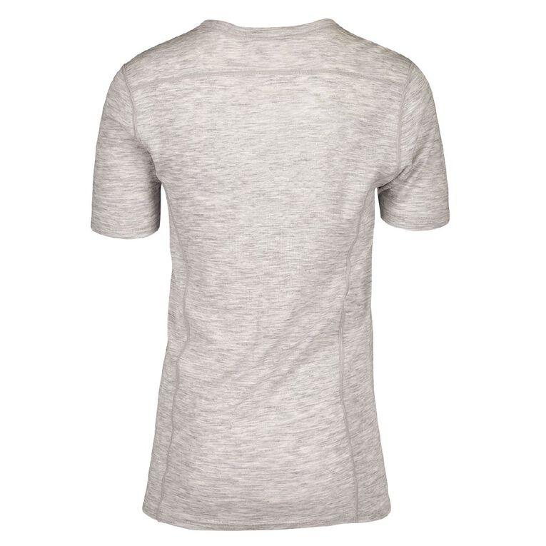 H&H Men's 100% Merino Wool Short Sleeve Thermal Top, Grey, hi-res