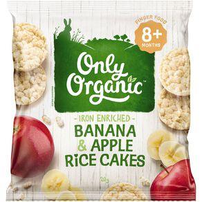 Only Organic Apple Banana Rice Cakes 20g