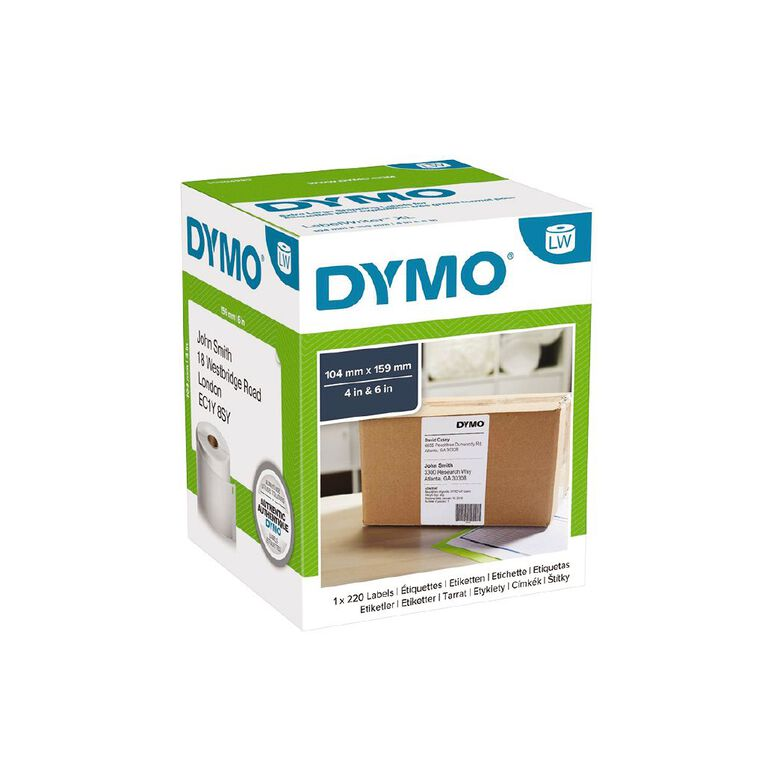Dymo LabelWriter Extra Large Shipping Labels 104mm x 159mm, , hi-res