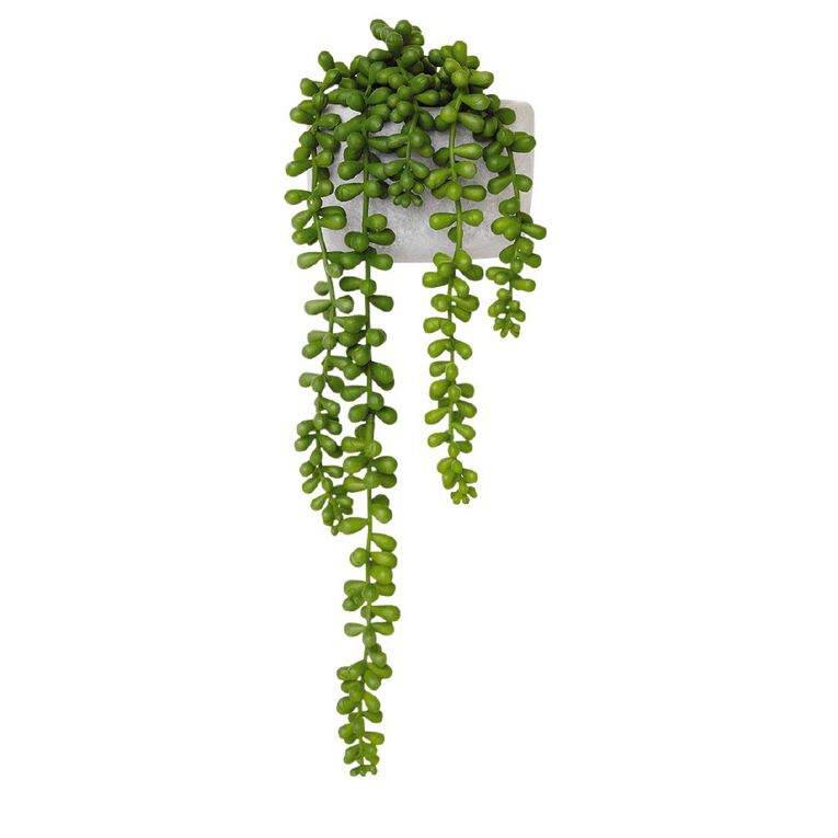 Living & Co Artificial Beaded Succulent Grey, , hi-res