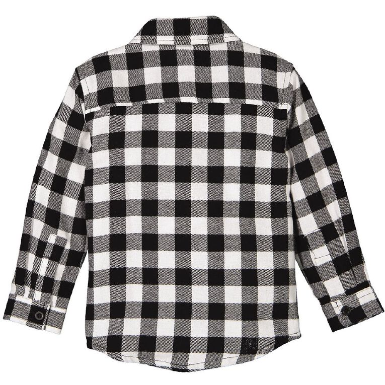 Young Original Toddler Flannel Shirt, White, hi-res