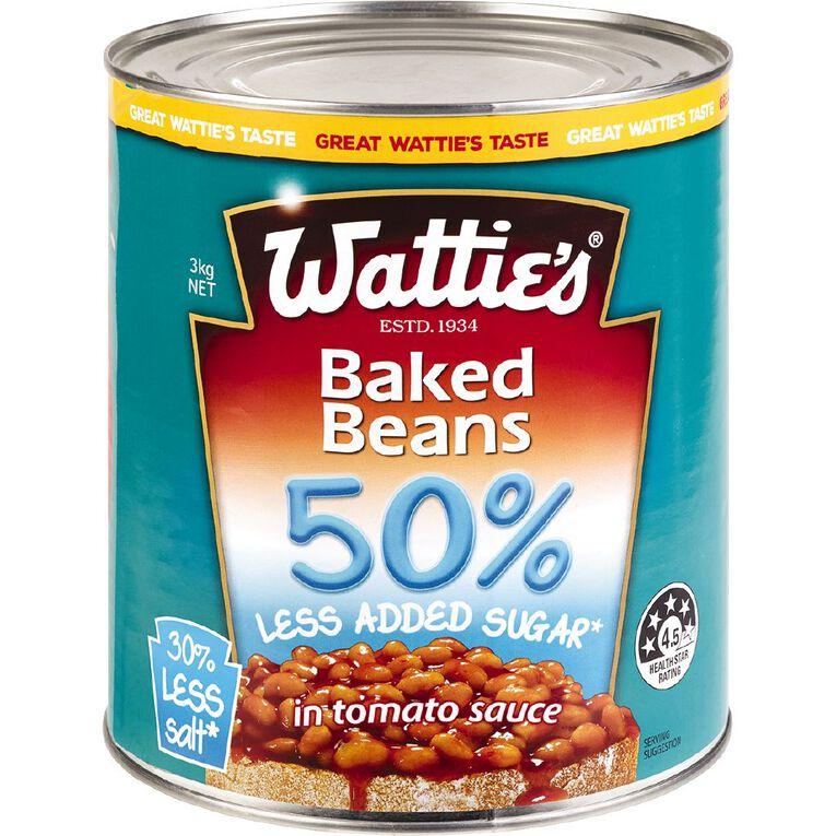 Wattie's Baked Beans 50% Less Added Sugar 3kg, , hi-res