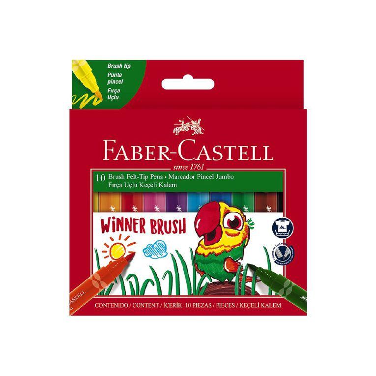 Faber-Castell - Winner Jumbo Brush Marker - Pack of 10, , hi-res