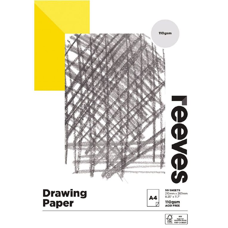 Reeves Drawing Pad 110gsm 50 Sheets A4, , hi-res image number null