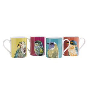 Living & Co Bird Mugs 4 Pack