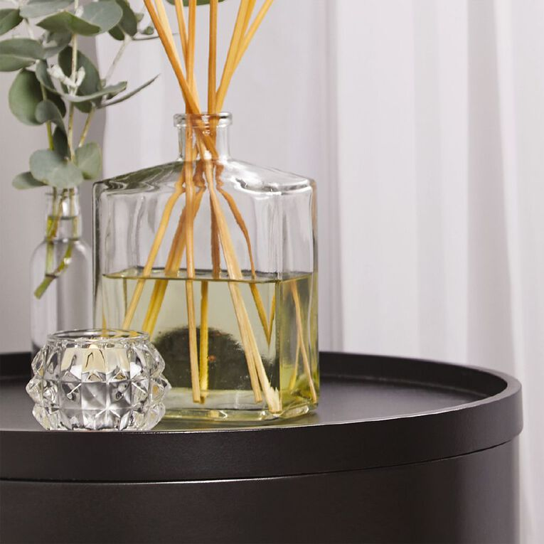 Living & Co Tealight Holder Glass Diamond Clear, , hi-res