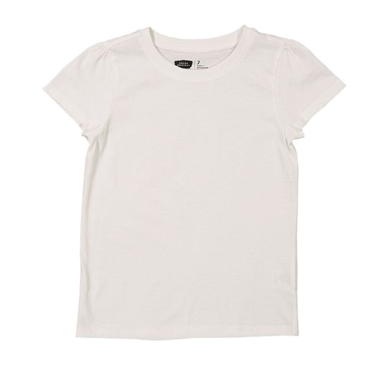 Young Original Girls' Short Sleeve Plain Two Pack Tees, White, hi-res