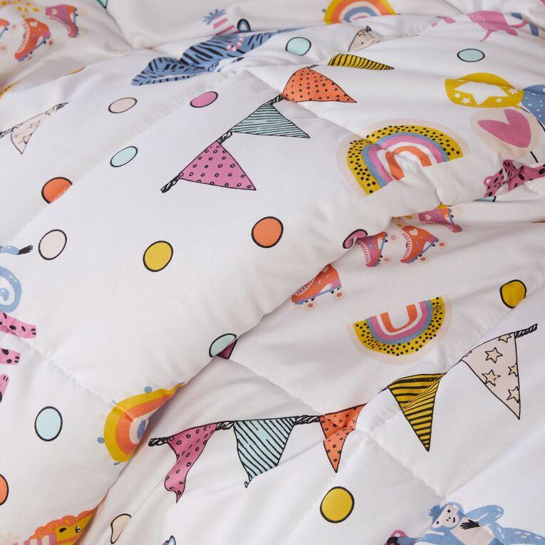 Living & Co Kids Comforter Set Summer Soiree King Single, , hi-res