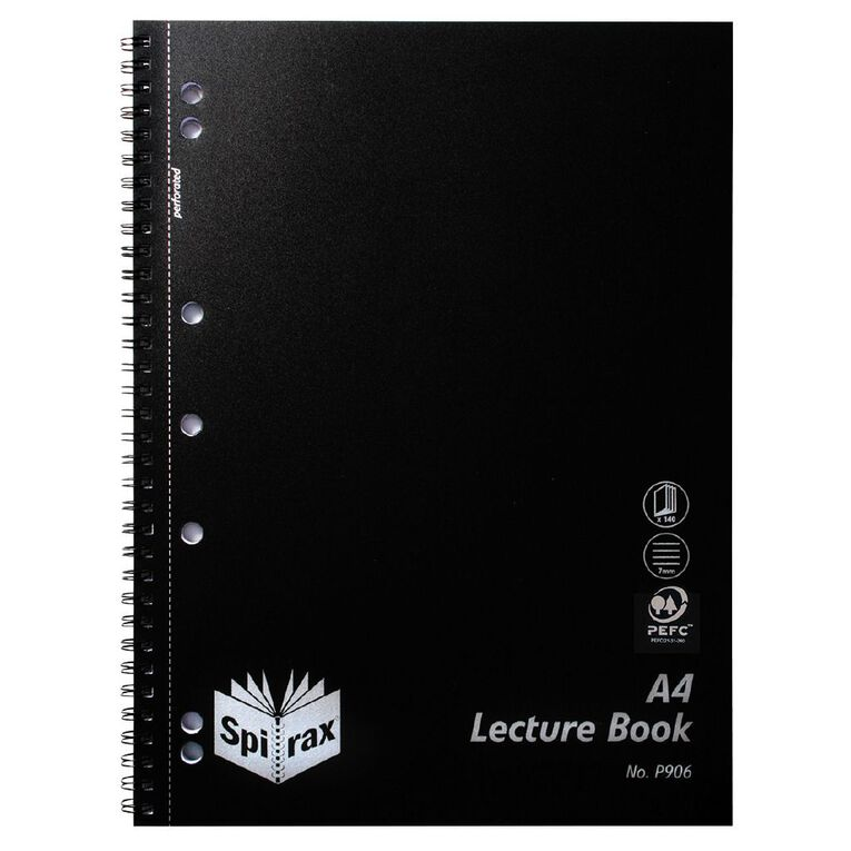 Spirax PP Lecture Book P906 Black 140 Page, , hi-res image number null