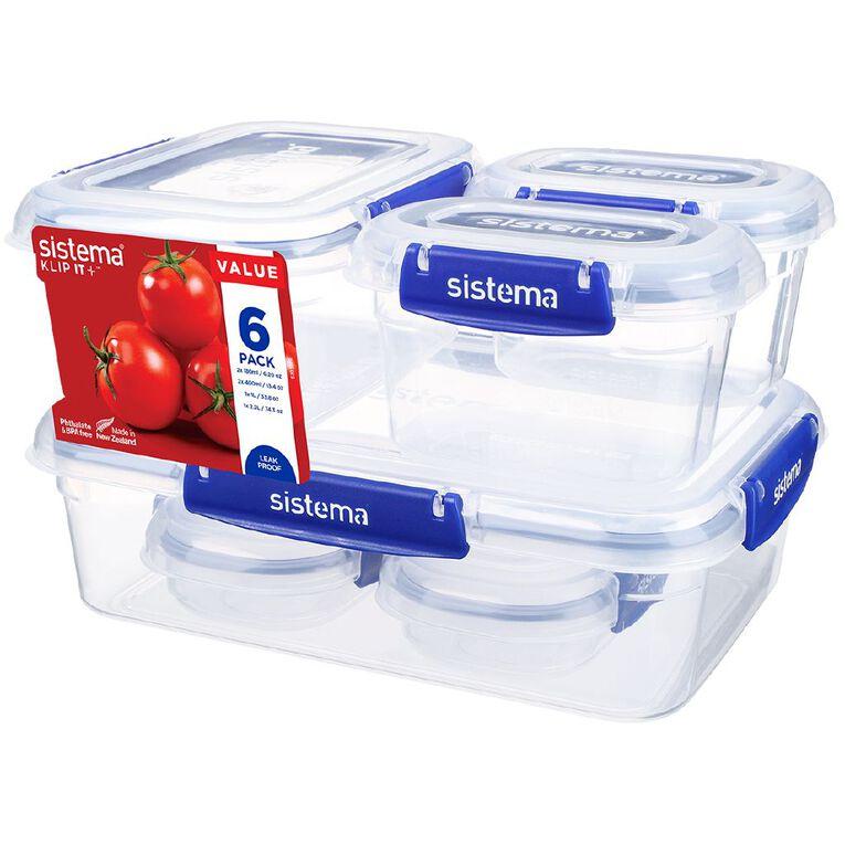 Sistema Klip It Plus Container Starter Assorted 6 Pack, , hi-res
