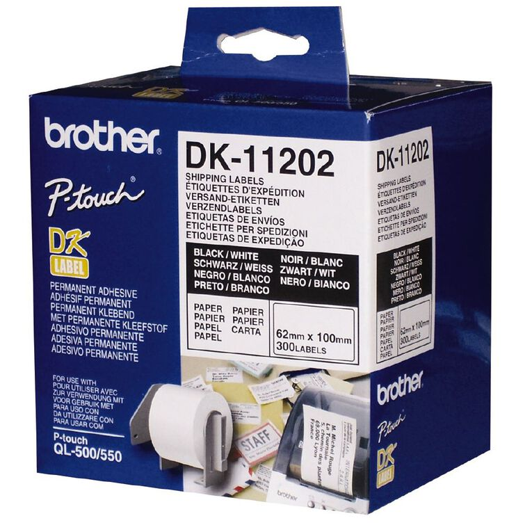 Brother Label Tape Dk11202 62mm x 100mm, , hi-res