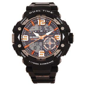 All Blacks Mens Sports Analogue Digital Alpha Watch Black
