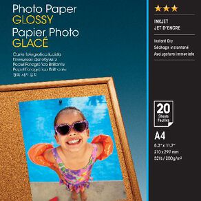 Epson Photo Paper So42538 Glossy 200gsm A4 20 Pack