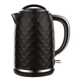 Living & Co Diamond Kettle 1.7 Litre Black