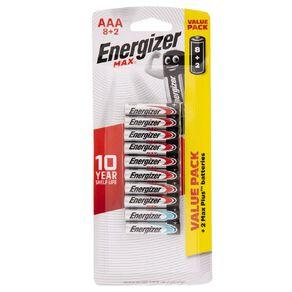 Energizer Max Alkaline Batteries AAA 10 Pack