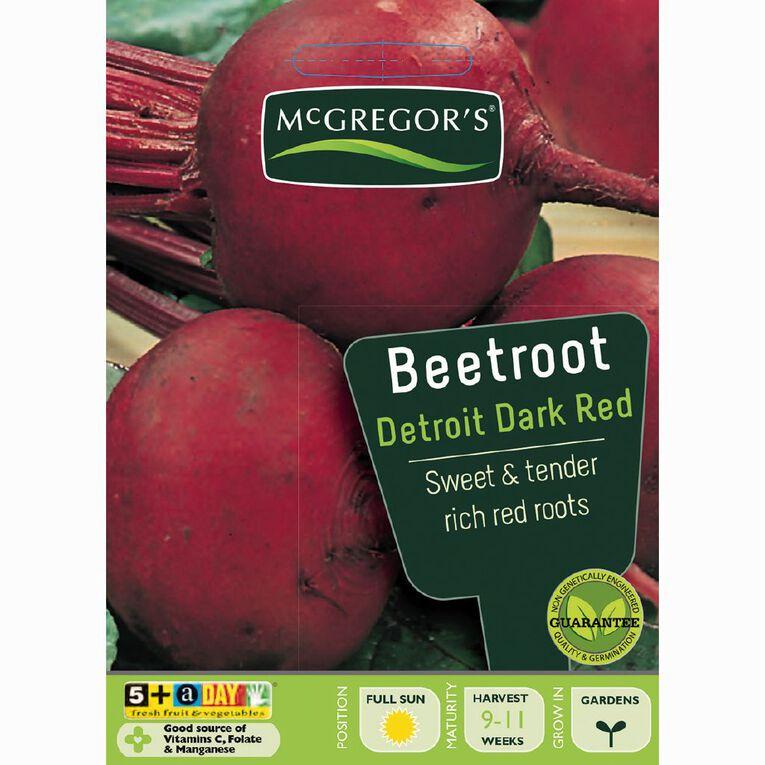 McGregor's Detroit Beetroot Dark Red Vegetable Seeds, , hi-res
