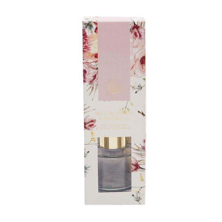 Living & Co Loft 26 Wild Blossom & Magnolia Diffuser Pink 200ml, Pink, hi-res
