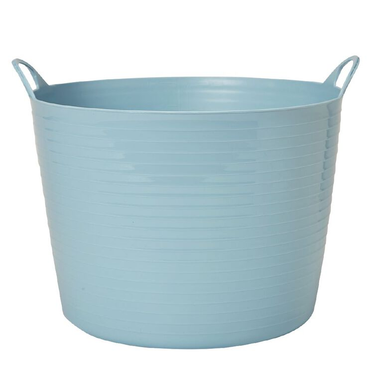 Living & Co Round Flexi Tub Blue 42L, , hi-res