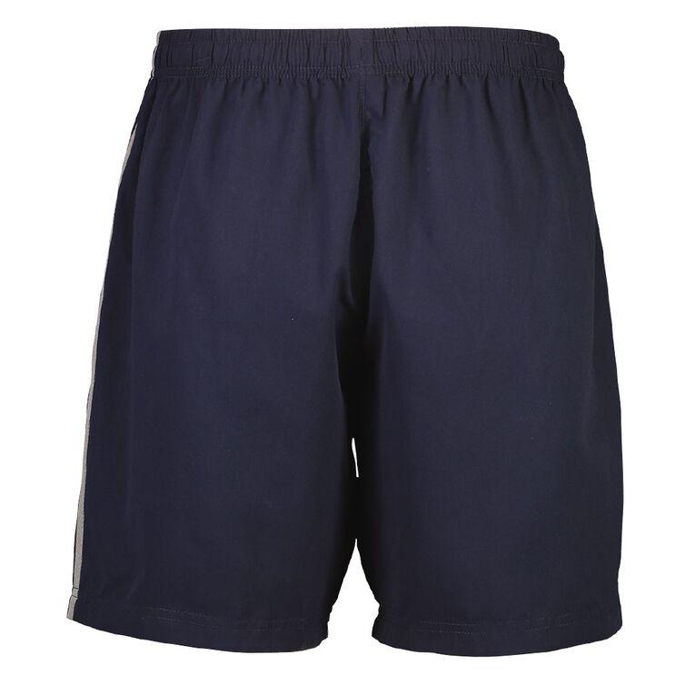Active Intent Men's Double Stripe Shorts, Navy, hi-res