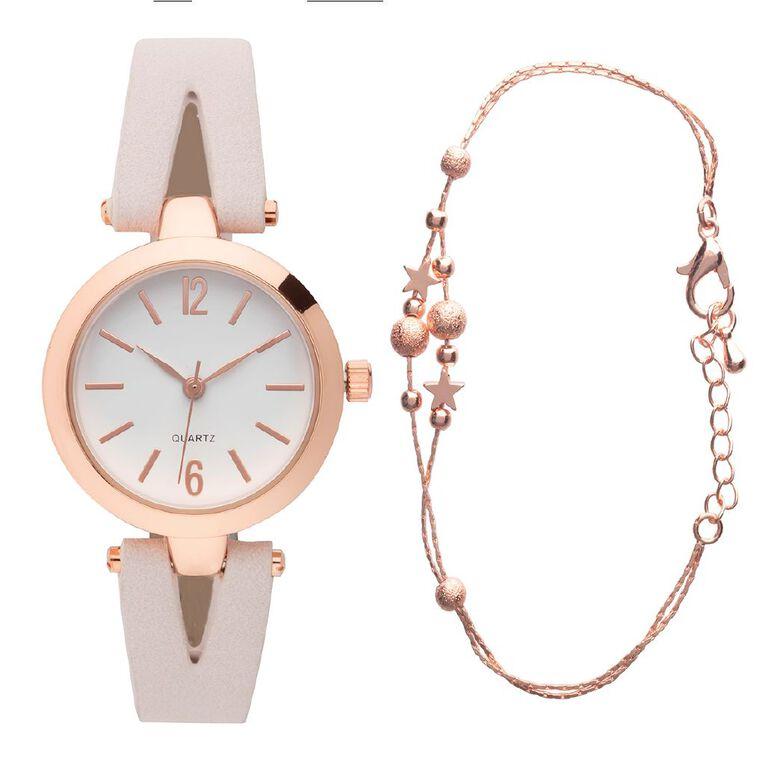 Eternity Style Kids' Analogue Watch Split Strap Bracelet Set, , hi-res image number null