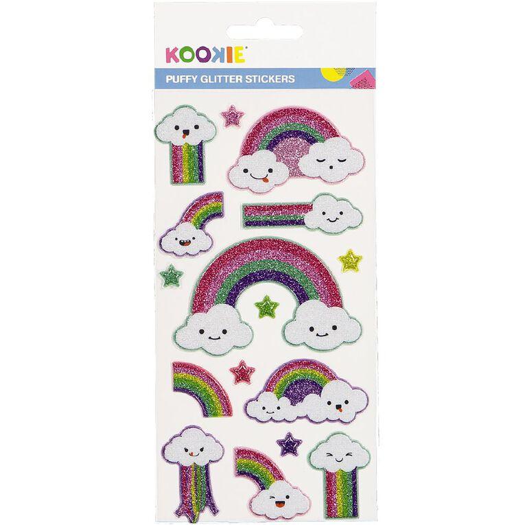 Kookie Sticker Sheet Puffy Glitter Assorted, , hi-res