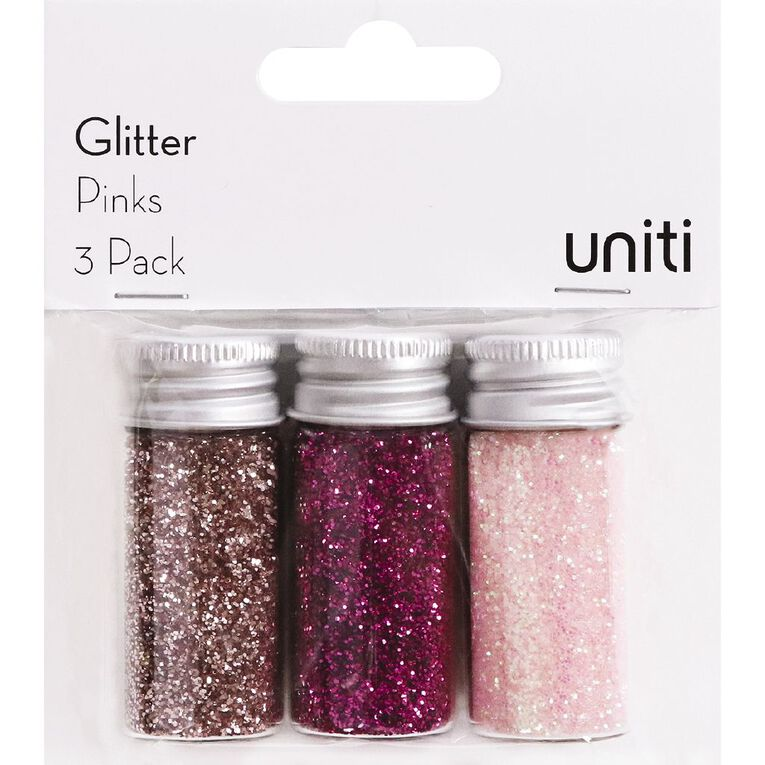 Uniti Glitter Pinks 3 Pack, , hi-res