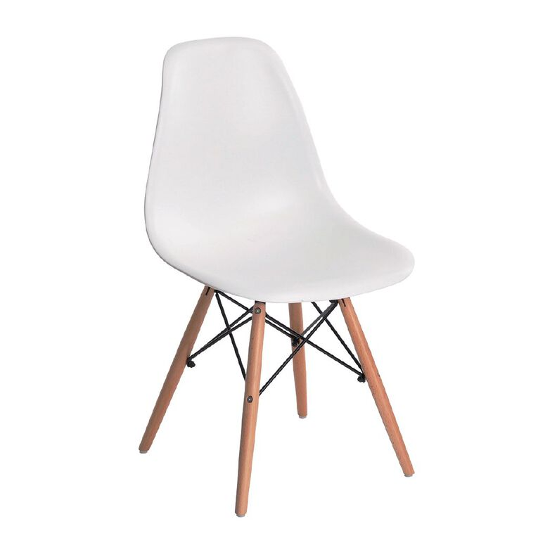 Living & Co Replica Eames Dining Chair White, , hi-res