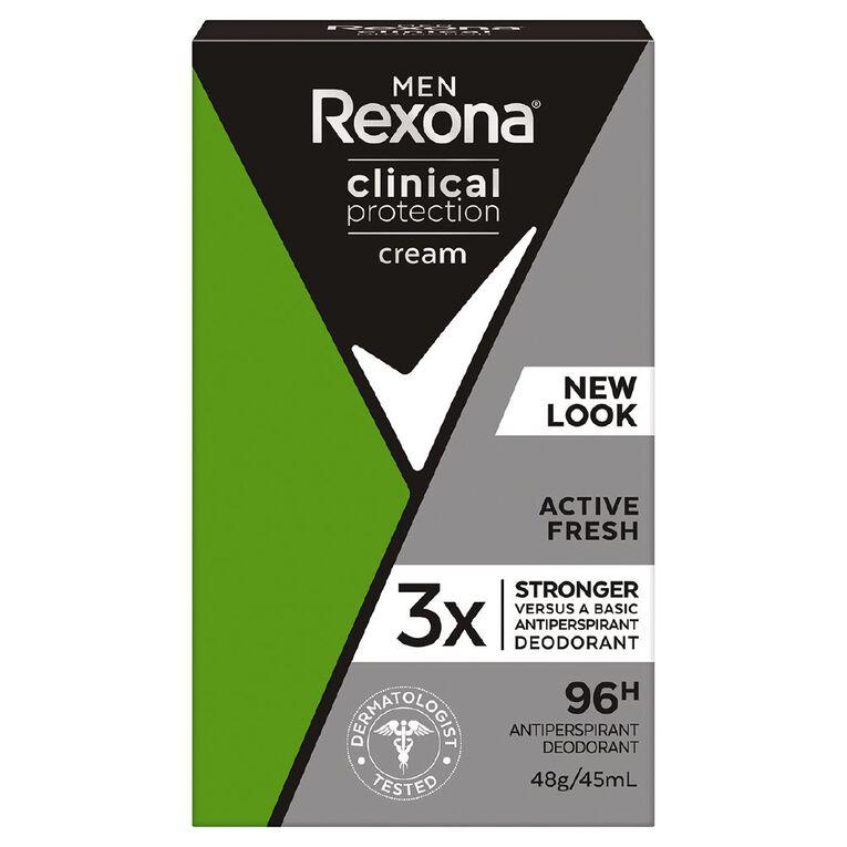 Rexona For Men Antiperspirant Deodorant Cream Clinical Protection 45ml, , hi-res