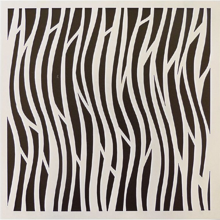 Fivestar Stencil Waves 15cm x 15cm, , hi-res