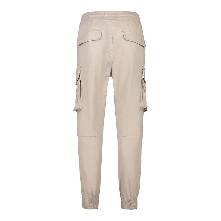 H&H Men's Woven Cargo Jogger Pants, Grey Light, hi-res