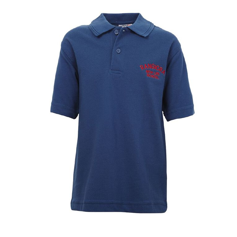 Schooltex Rangiora New Life Short Sleeve Polo with Embroidery, Royal, hi-res