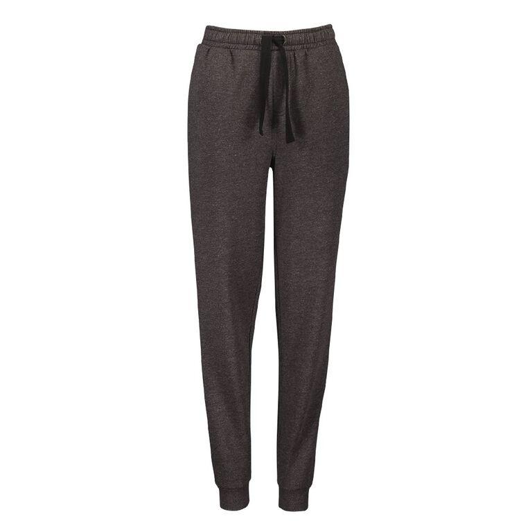Young Original Plain Rib Cuff Trackpants, Charcoal/Marle, hi-res image number null