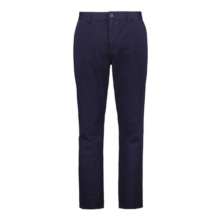 H&H Men's Classic Chino Pants, Navy, hi-res