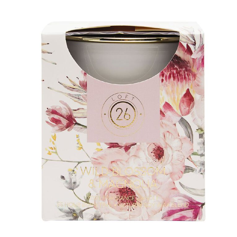 Living & Co Loft 26 Wild Blossom & Magnolia Candle Pink 400g, Pink, hi-res