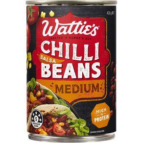 Wattie's Salsa Chilli Beans Medium 420g