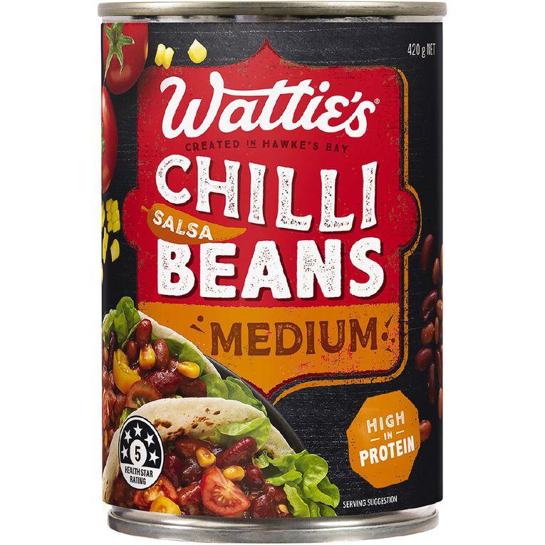 Wattie's Salsa Chilli Beans Medium 420g, , hi-res