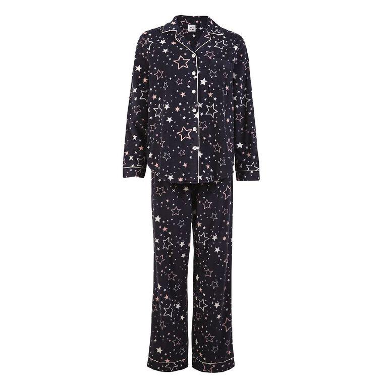 H&H Women's Fleece Pyjamas, Navy, hi-res