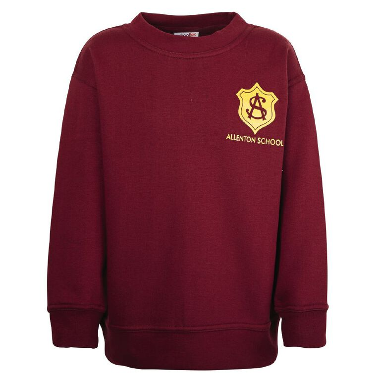 Schooltex Allenton Sweatshirt with Transfer, Burgundy, hi-res