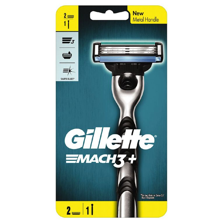 Gillette Mach3 Razor Plus 2 Cartrides, , hi-res