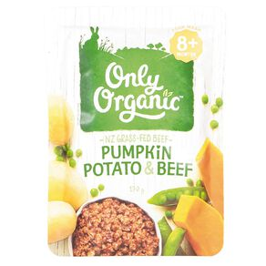 Only Organic Pumpkin Potato and Beef Pouch 170g