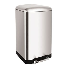 Living & Co Stainless Steel Pedal Rubbish Bin Silver 40L