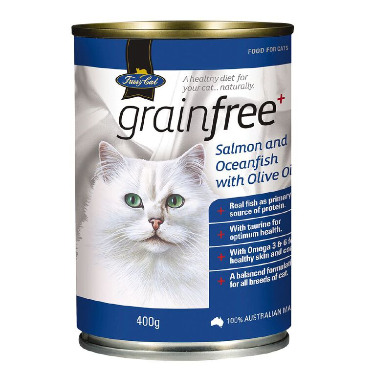 Fussy Cat Grain-Free Salmon and Whitefish with Olive Oil 400g, , hi-res