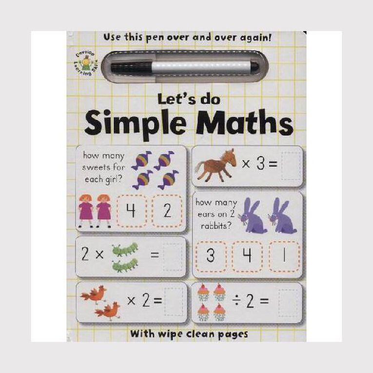Wipe Clean: Let's Do Simple Maths, , hi-res
