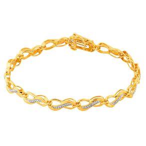 0.25 Carat Diamond 9ct Gold Infinity Bracelet